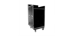 PLUGGER Flight case Mixer/Rack 16U roller
