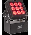 Projecteur rechargeable 9 LED RGBL 15W AFX Light MOBICOLOR 9