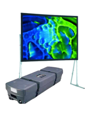 Écran de projection valise